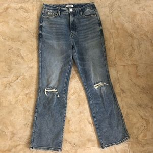 Good American High Waisted Ripped Jeans